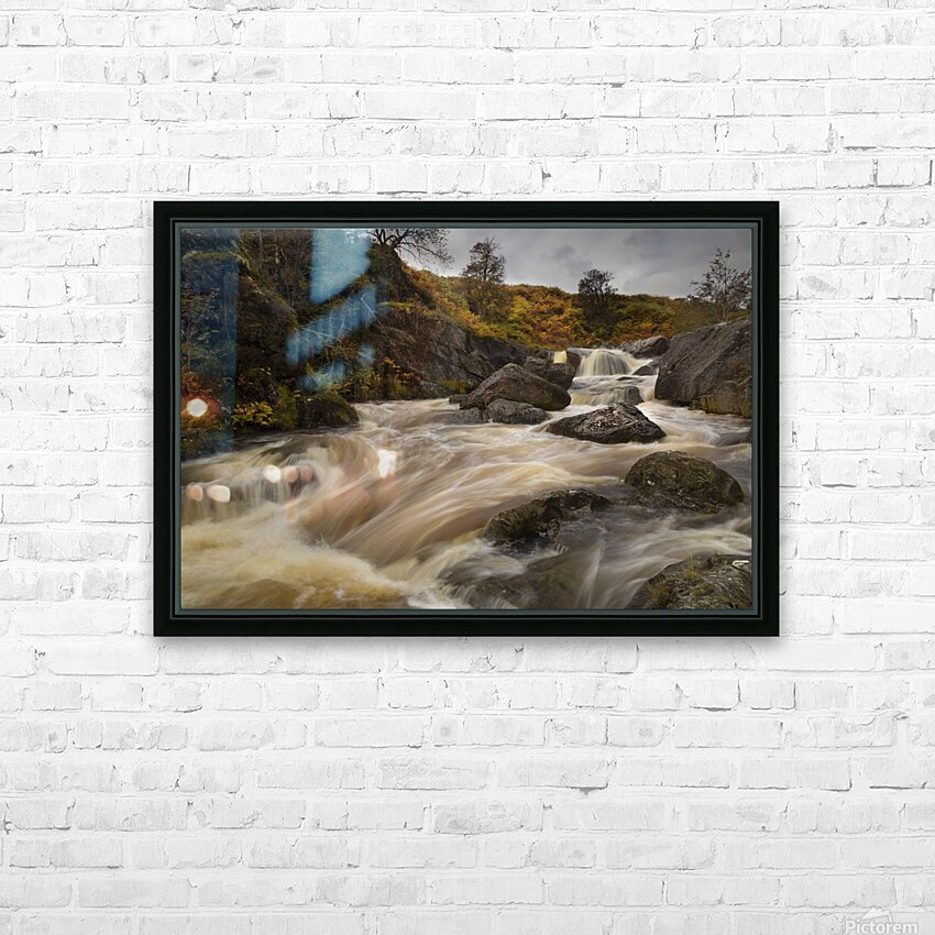 Elan valley watercourse HD Sublimation Metal print with Decorating Float Frame (BOX)