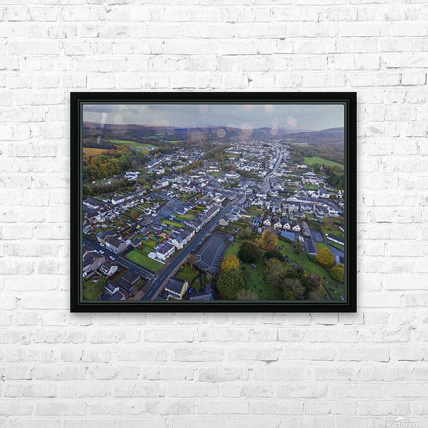 Rainclouds over Ystradgynlais HD Sublimation Metal print with Decorating Float Frame (BOX)
