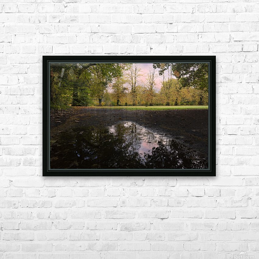 Autumn reflections in a field HD Sublimation Metal print with Decorating Float Frame (BOX)
