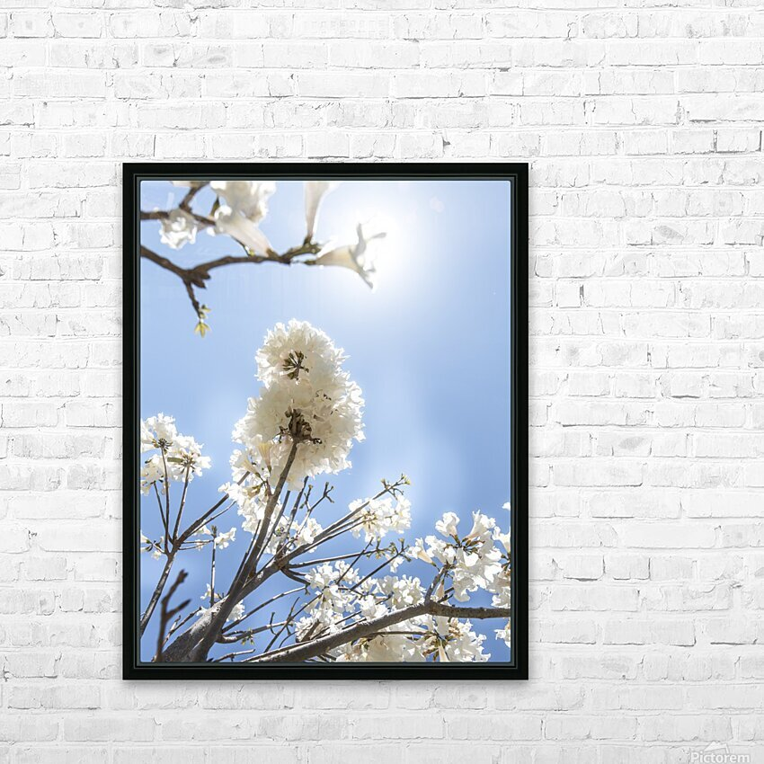 Bright white - glow HD Sublimation Metal print with Decorating Float Frame (BOX)