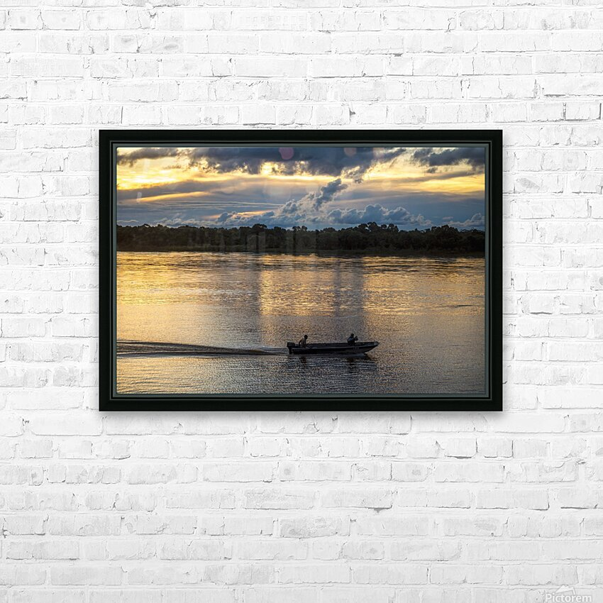 Araguaia River - Returning fishermen HD Sublimation Metal print with Decorating Float Frame (BOX)