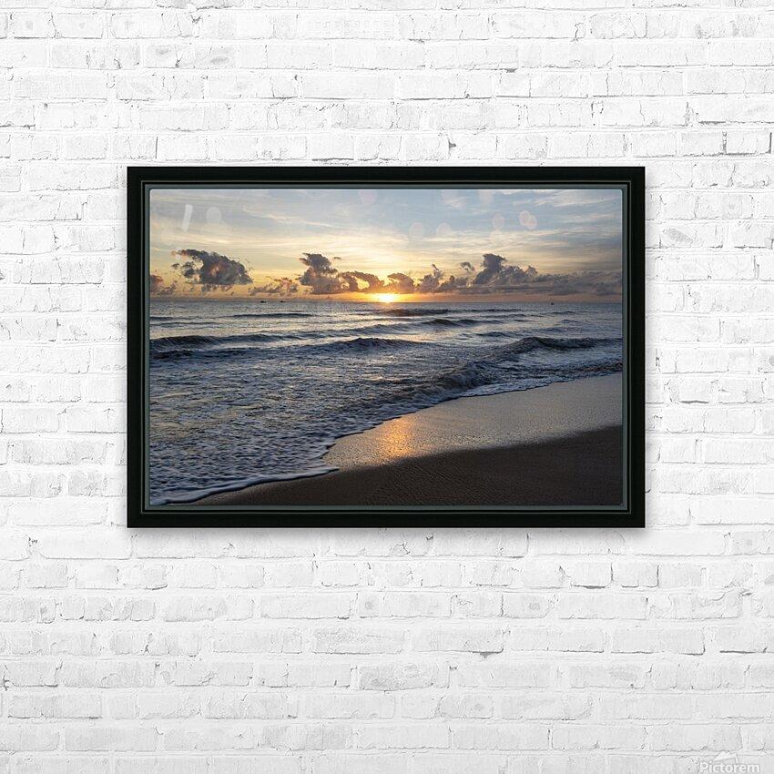 Sunrise Golden HD Sublimation Metal print with Decorating Float Frame (BOX)
