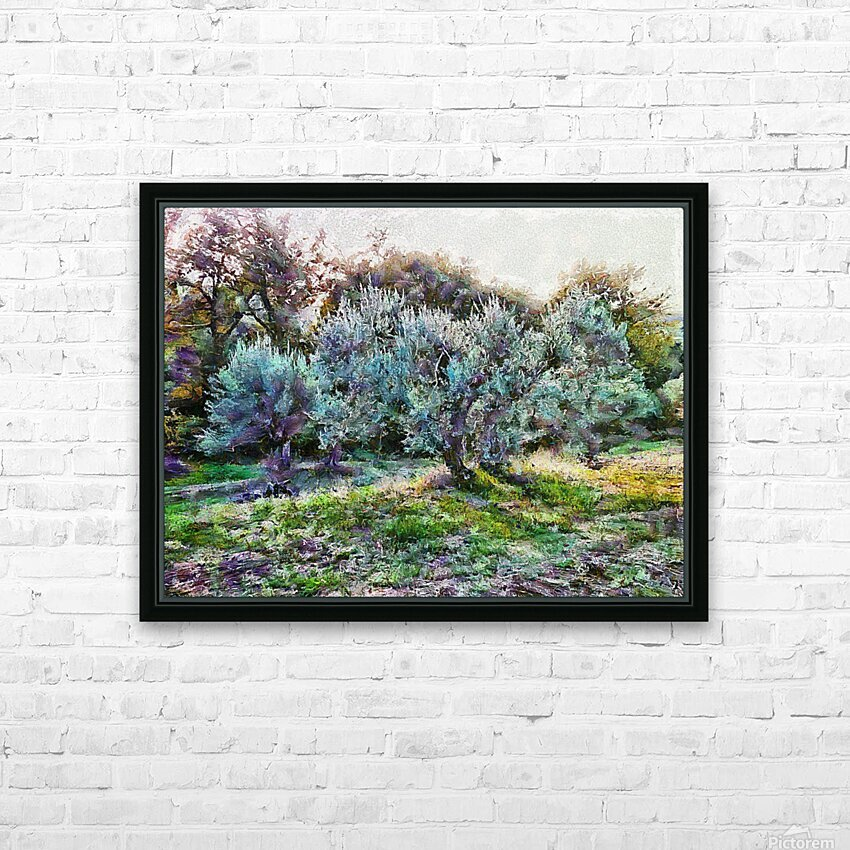 Colorful Olive Grove HD Sublimation Metal print with Decorating Float Frame (BOX)