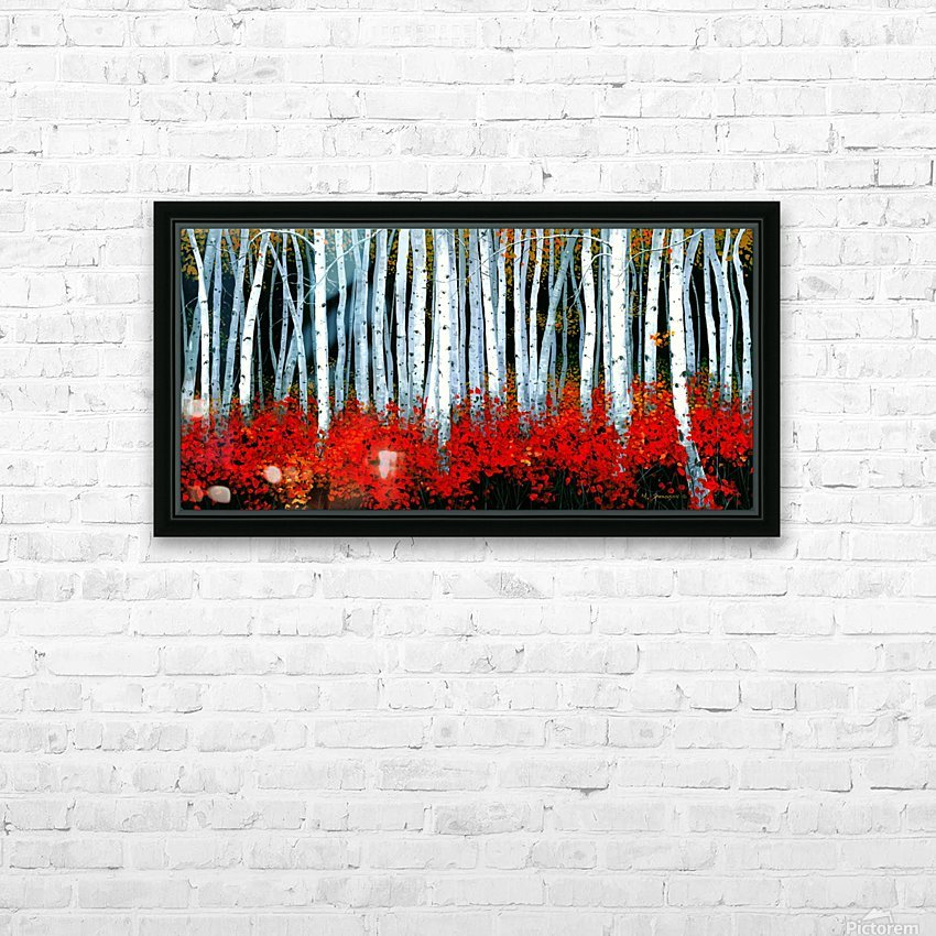 Autumn Aspens HD Sublimation Metal print with Decorating Float Frame (BOX)