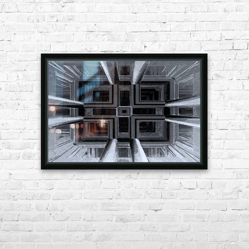oben oder unten  HD Sublimation Metal print with Decorating Float Frame (BOX)