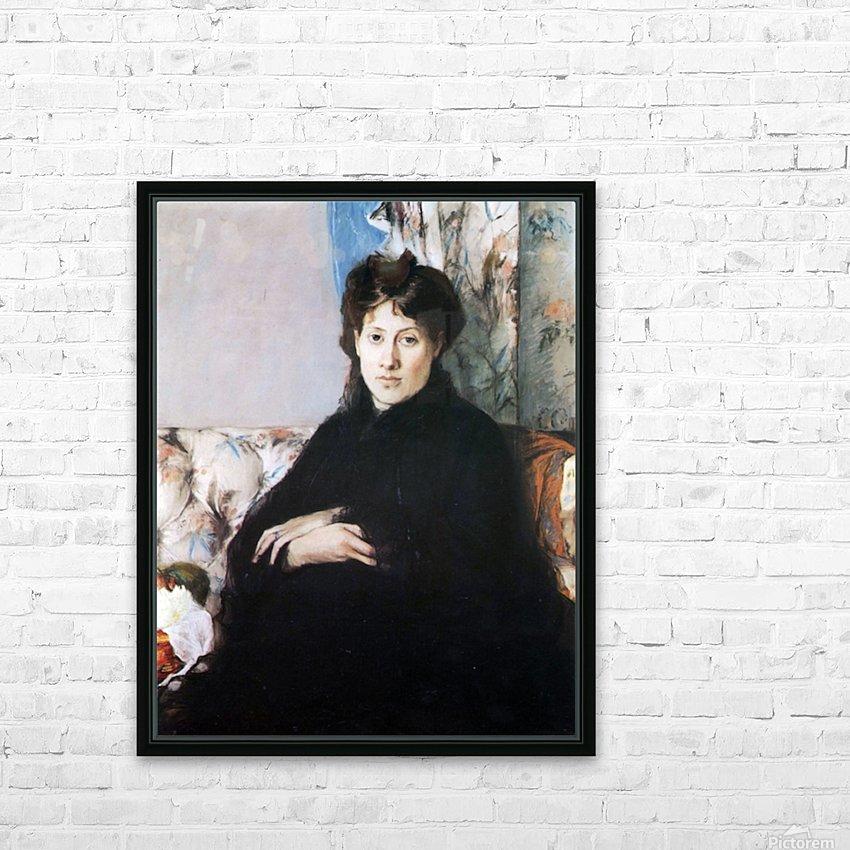 Portrait of Madame Pontillon HD Sublimation Metal print with Decorating Float Frame (BOX)
