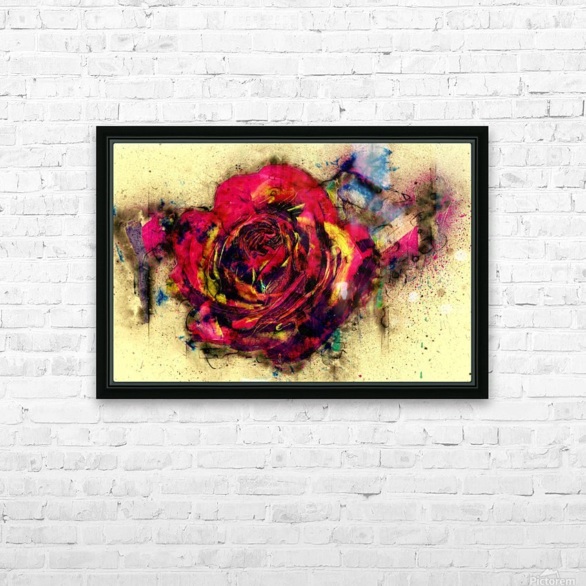 abstract rose HD Sublimation Metal print with Decorating Float Frame (BOX)
