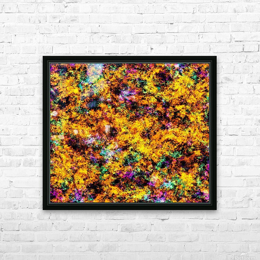 Hot yellow HD Sublimation Metal print with Decorating Float Frame (BOX)
