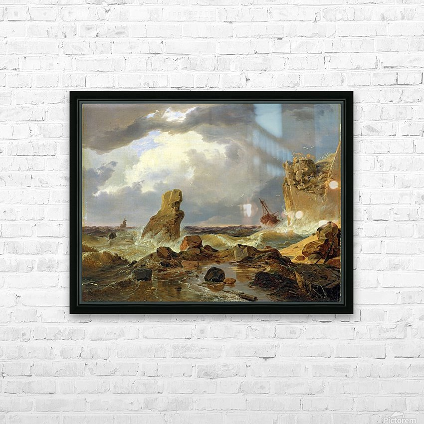 Surf on a Rocky Coast HD Sublimation Metal print with Decorating Float Frame (BOX)