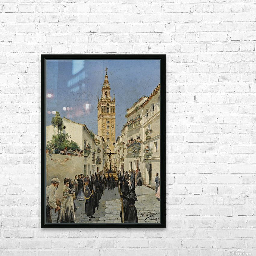 Easter Procession on Mateos Gago Street in Seville HD Sublimation Metal print with Decorating Float Frame (BOX)