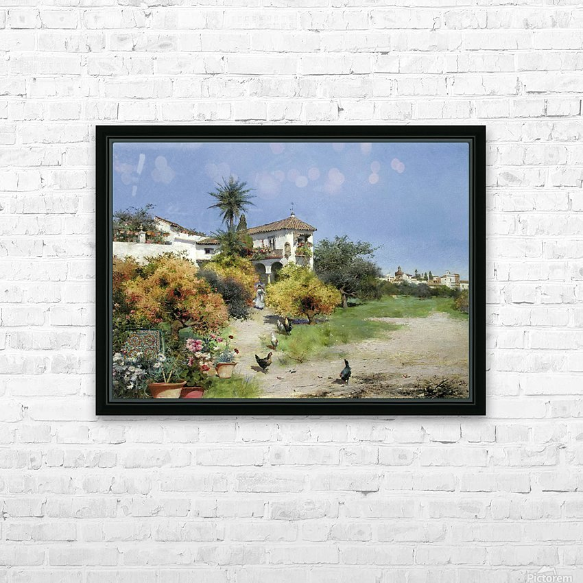 An afternoon stroll HD Sublimation Metal print with Decorating Float Frame (BOX)