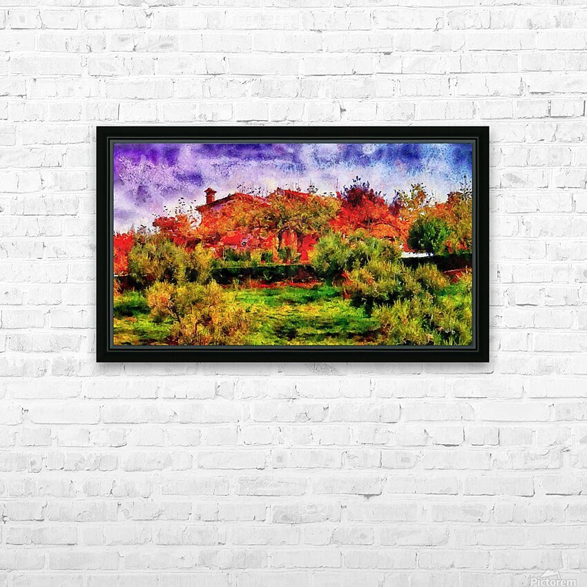 Sunset Autumn Color In Umbria HD Sublimation Metal print with Decorating Float Frame (BOX)