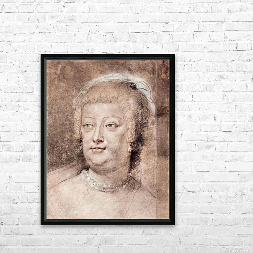 Portrait of Maria de Medici by Rubens HD Sublimation Metal print with Decorating Float Frame (BOX)