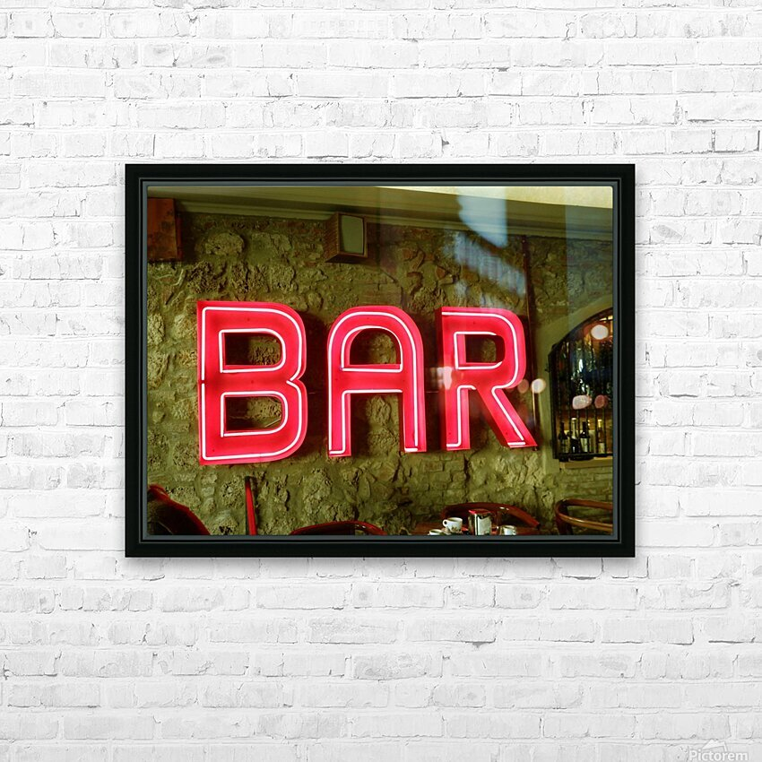 Bar Sign HD Sublimation Metal print with Decorating Float Frame (BOX)