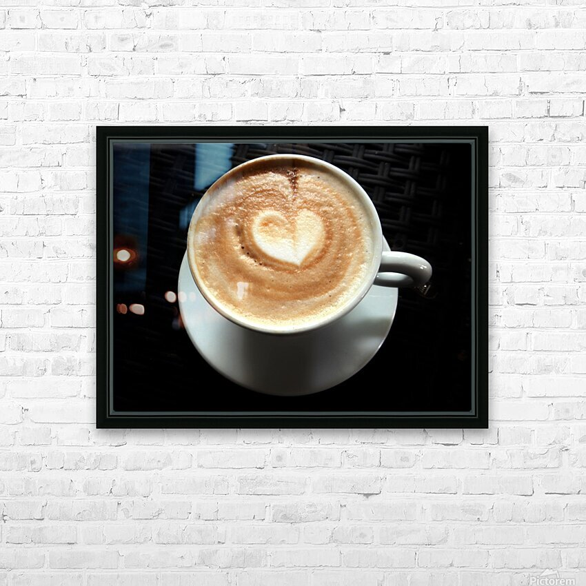 Uno Cappuccino HD Sublimation Metal print with Decorating Float Frame (BOX)