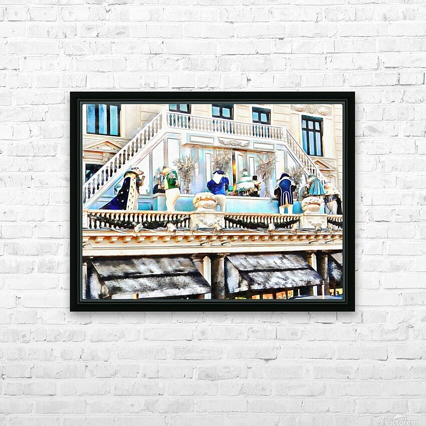 Christmas Display Hotel DAngleterre Copenhagen HD Sublimation Metal print with Decorating Float Frame (BOX)
