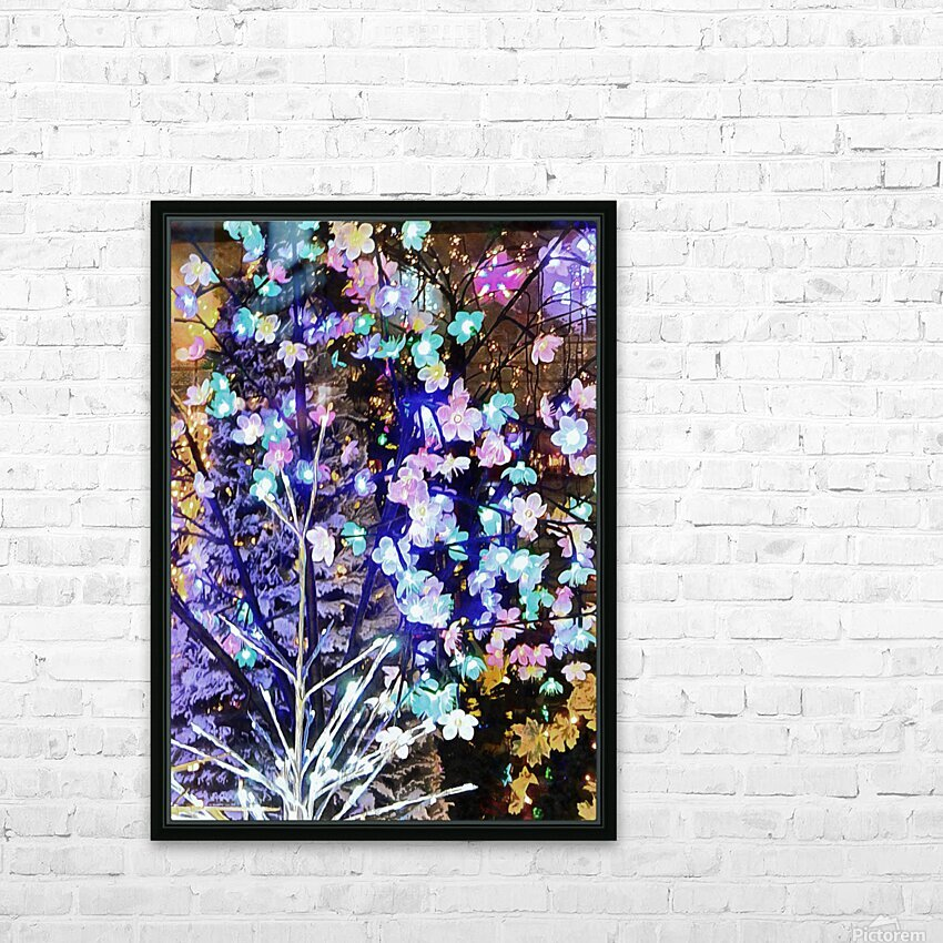 Christmas Lights 5 HD Sublimation Metal print with Decorating Float Frame (BOX)