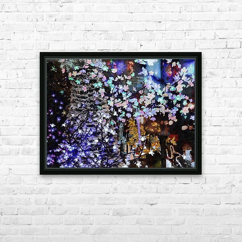 Look Ma Lights HD Sublimation Metal print with Decorating Float Frame (BOX)