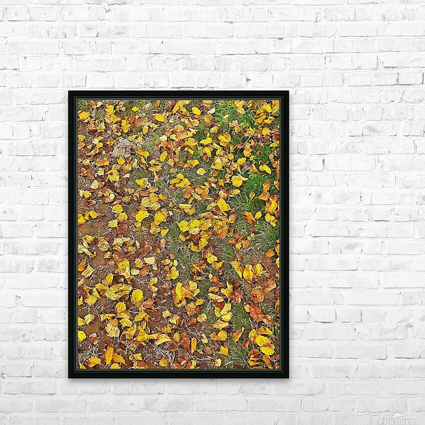 An Autumn Carpet HD Sublimation Metal print with Decorating Float Frame (BOX)