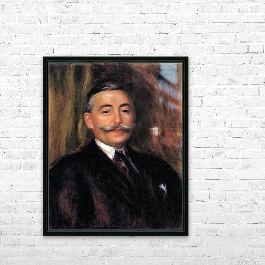 Portrait of Maurice Gangnat by Renoir HD Sublimation Metal print with Decorating Float Frame (BOX)