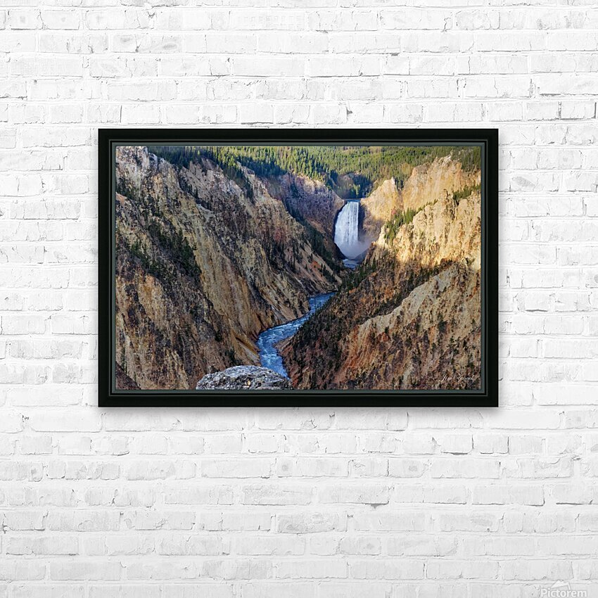 Yellowstone National Park Lower Falls HD Sublimation Metal print with Decorating Float Frame (BOX)