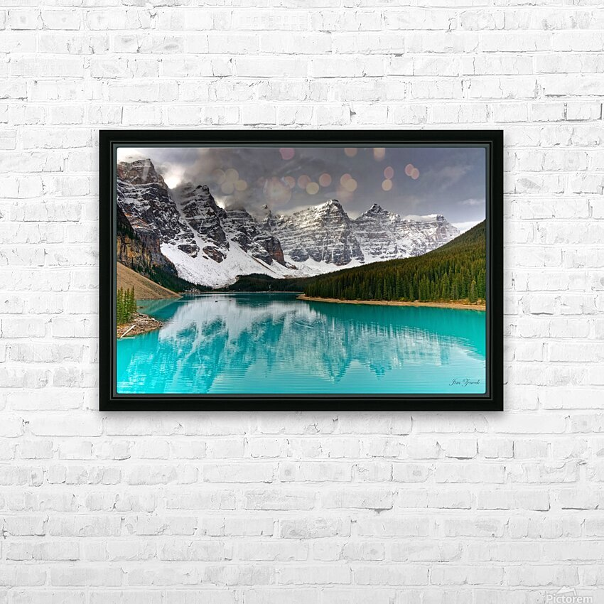 Canadian Rockies HD Sublimation Metal print with Decorating Float Frame (BOX)
