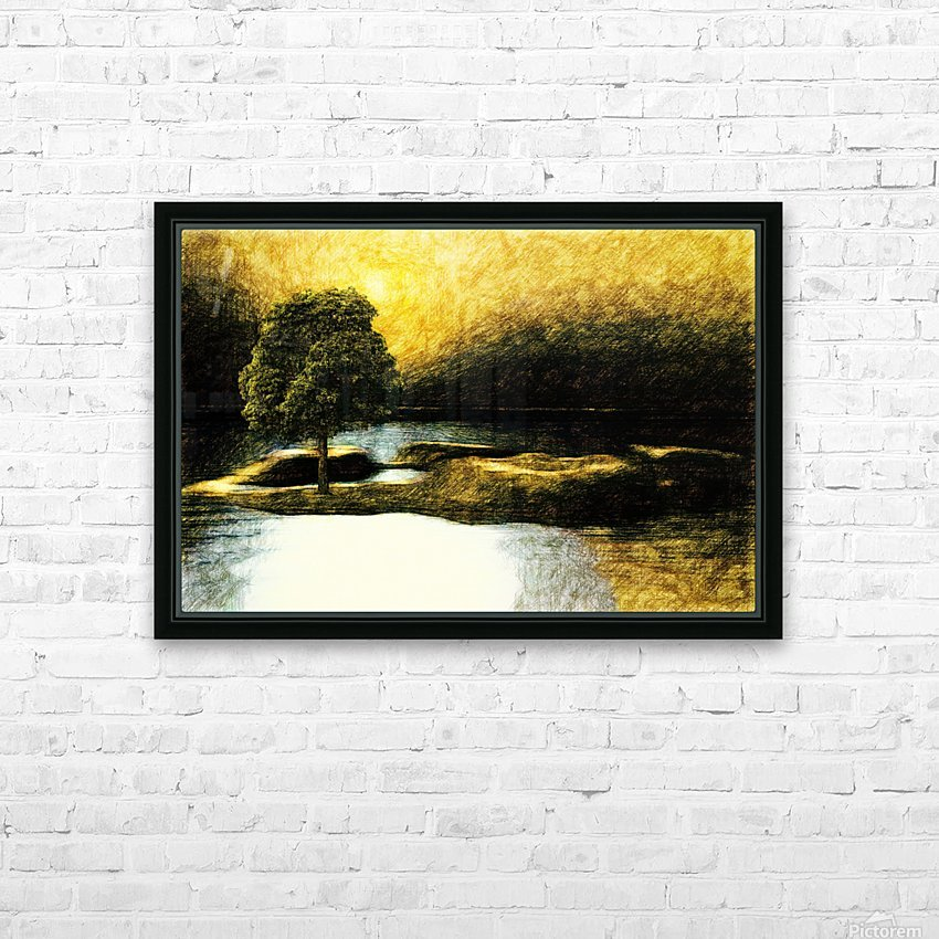 the Tree HD Sublimation Metal print with Decorating Float Frame (BOX)