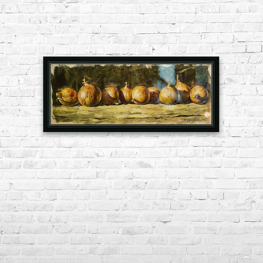 Kitchen Still Life with golden bow HD Sublimation Metal print with Decorating Float Frame (BOX)
