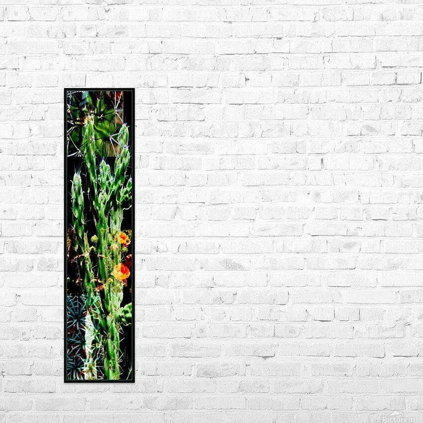 Neon Black Velvet Cactus 1 HD Sublimation Metal print with Decorating Float Frame (BOX)