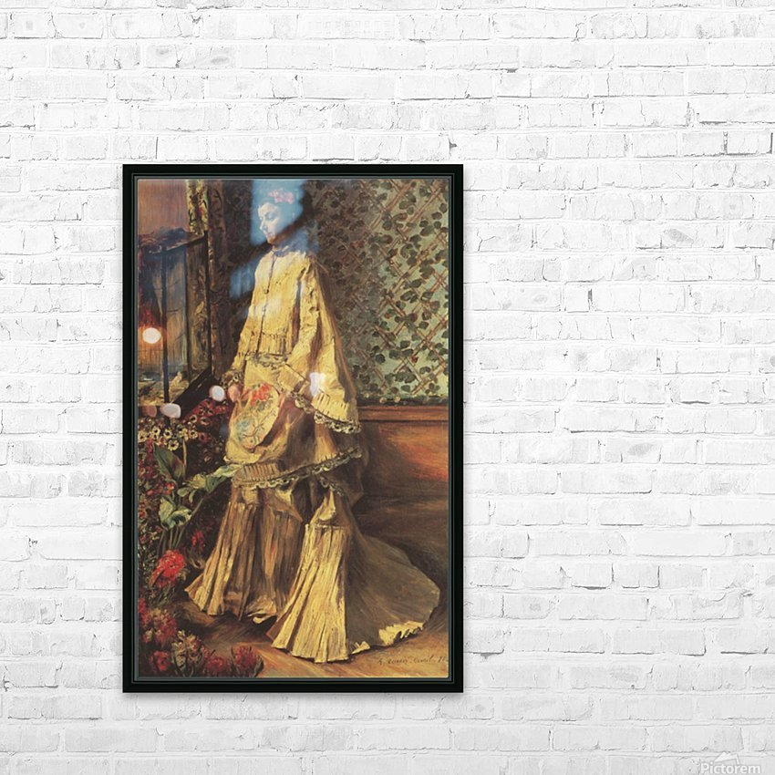 Portrait of Rapha by Renoir HD Sublimation Metal print with Decorating Float Frame (BOX)