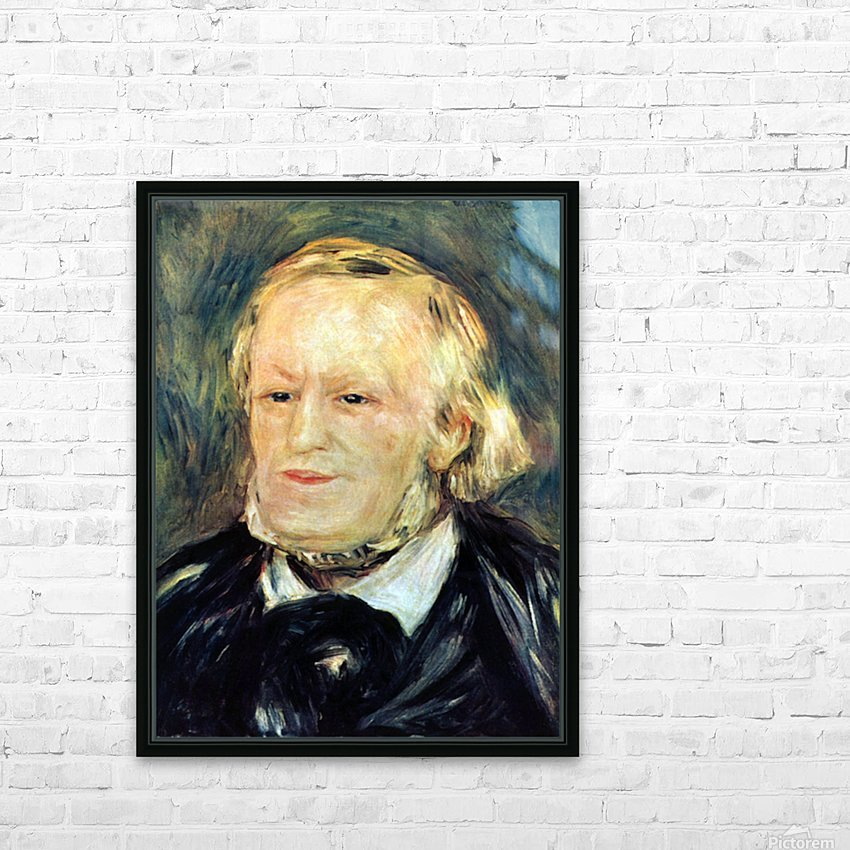 Portrait of Richard Wagner by Renoir HD Sublimation Metal print with Decorating Float Frame (BOX)