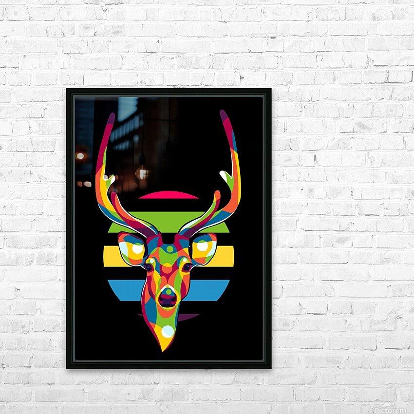 Deer Portrait HD Sublimation Metal print with Decorating Float Frame (BOX)