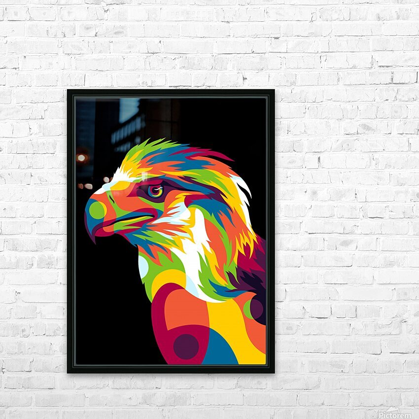 Philippine Eagle Illustration HD Sublimation Metal print with Decorating Float Frame (BOX)