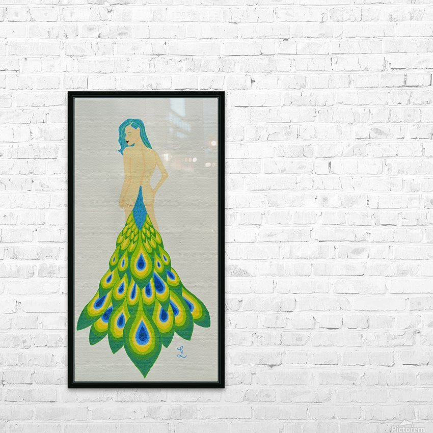 A Cheeky Introduction - First in the Peacock Princess Series HD Sublimation Metal print with Decorating Float Frame (BOX)