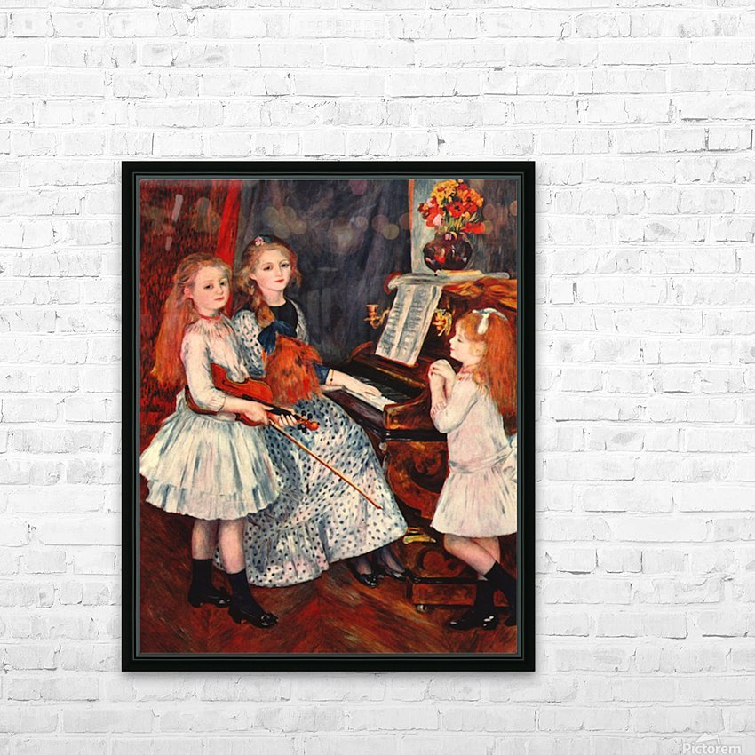 Portrait of the daughter of Catulle-Mendes HD Sublimation Metal print with Decorating Float Frame (BOX)