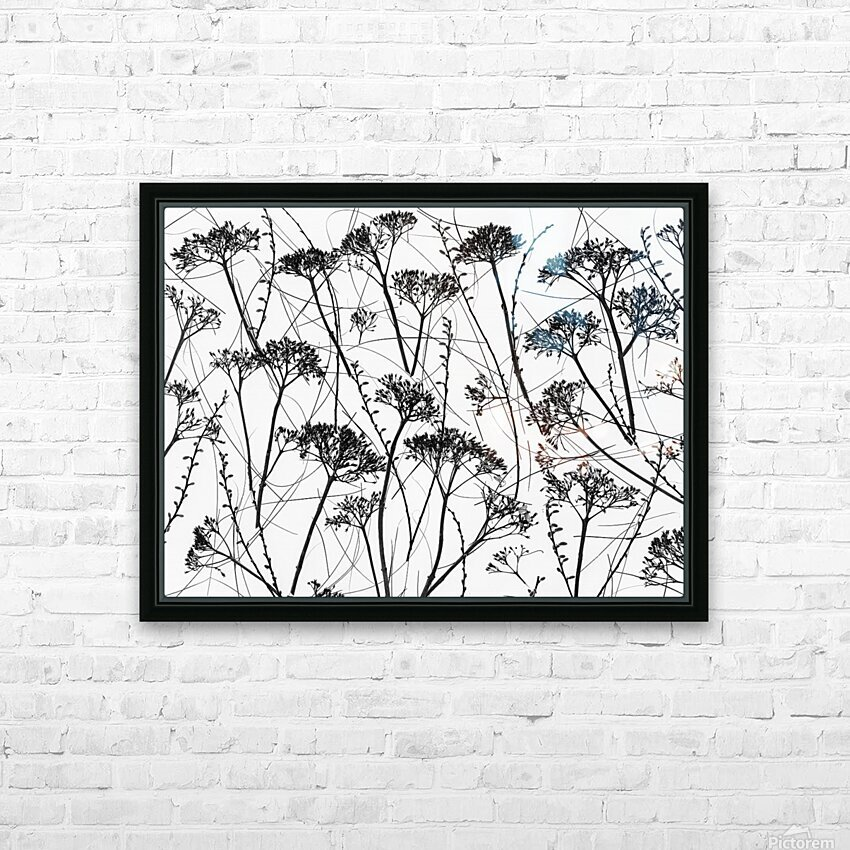 Silhouette of dried plants HD Sublimation Metal print with Decorating Float Frame (BOX)