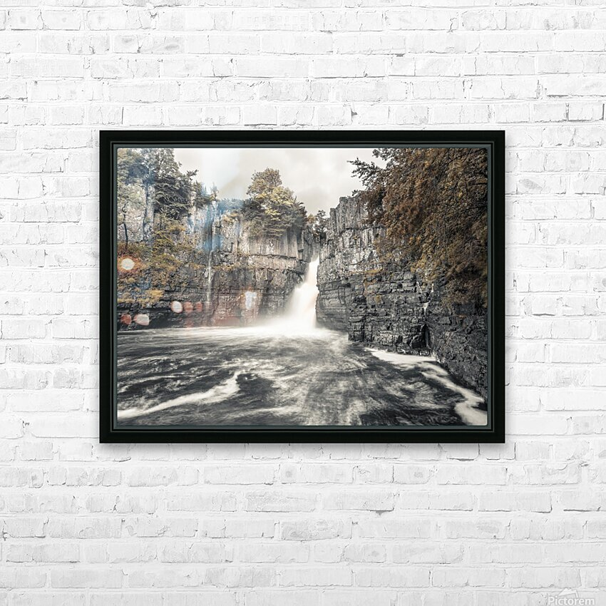 High Force waterfall, North Pennines, Yorkshire, UK HD Sublimation Metal print with Decorating Float Frame (BOX)