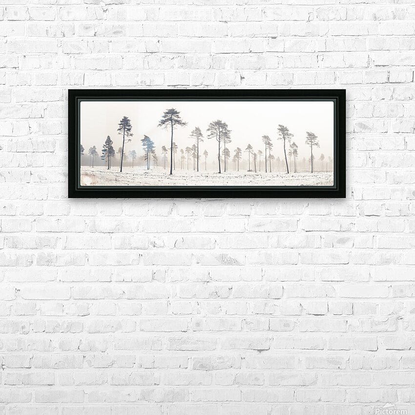 Snowy forest in winter HD Sublimation Metal print with Decorating Float Frame (BOX)