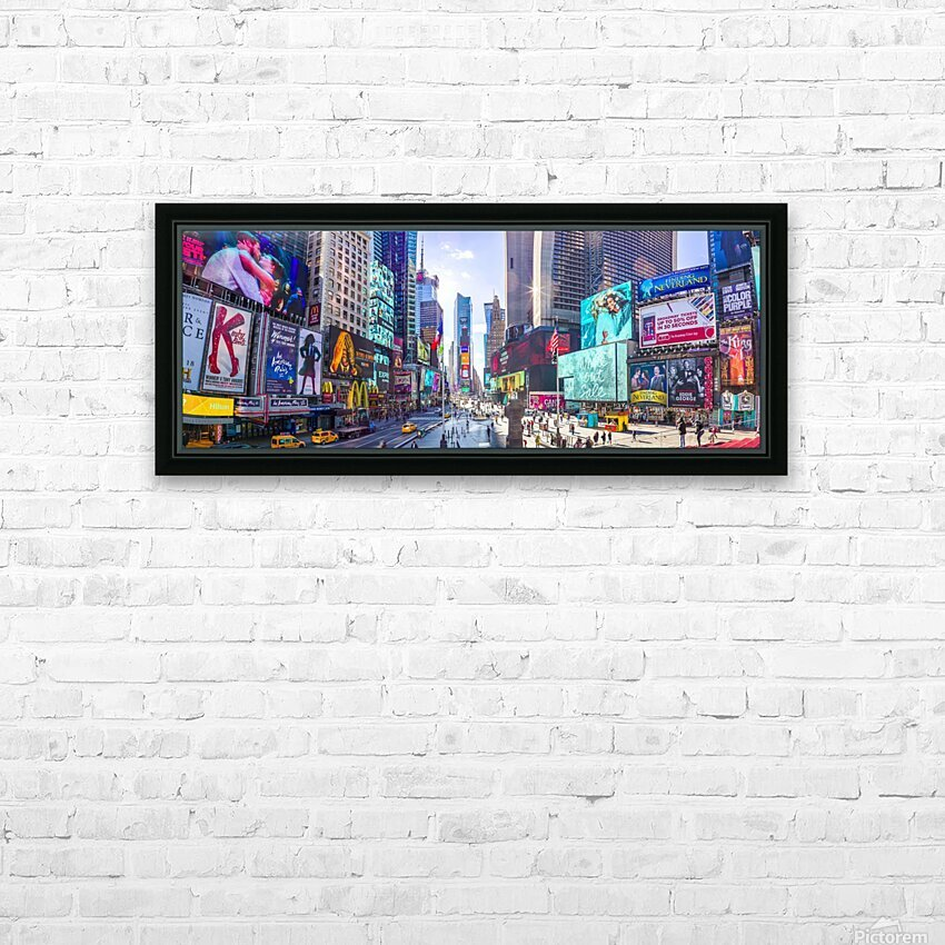 Times Square, New York City HD Sublimation Metal print with Decorating Float Frame (BOX)
