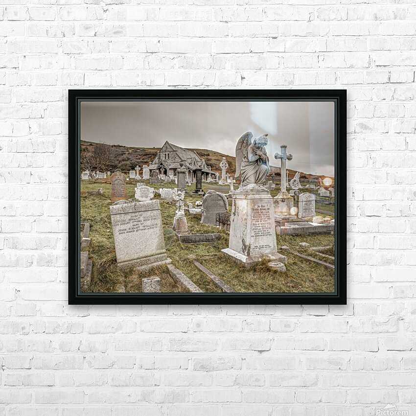 Cemetery in Llandudno, North Wales HD Sublimation Metal print with Decorating Float Frame (BOX)