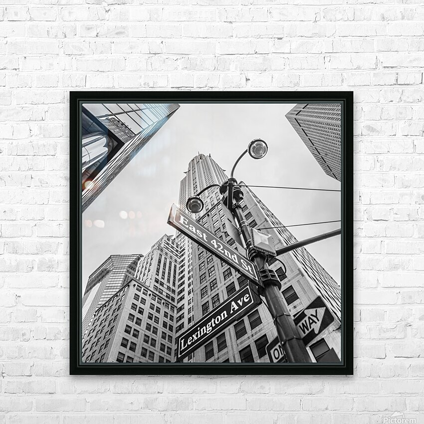 Chrysler Building in New York city HD Sublimation Metal print with Decorating Float Frame (BOX)