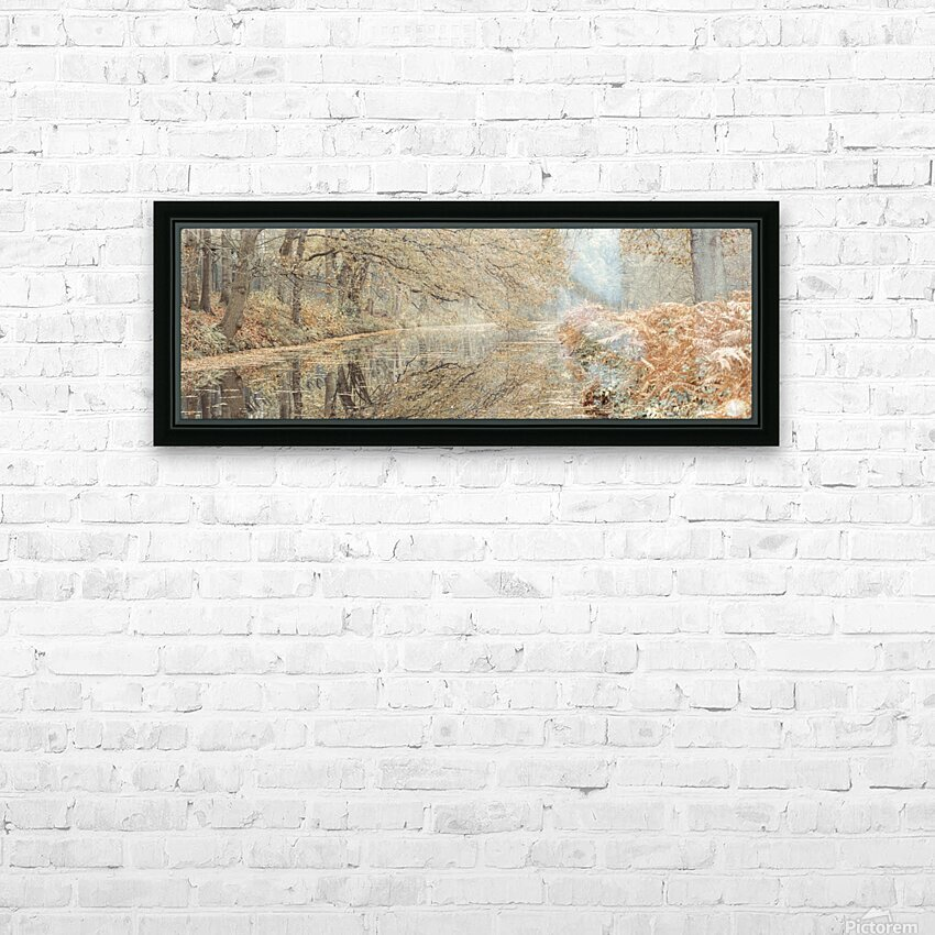 Canal through a forest HD Sublimation Metal print with Decorating Float Frame (BOX)