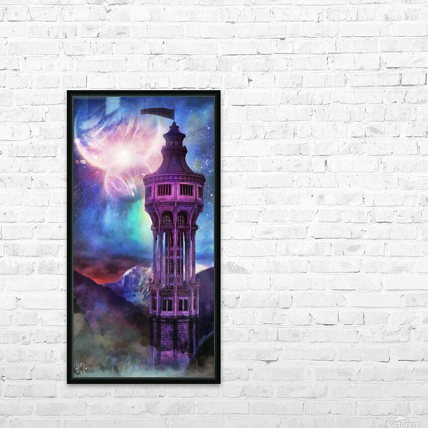 Interregnum Tower HD Sublimation Metal print with Decorating Float Frame (BOX)