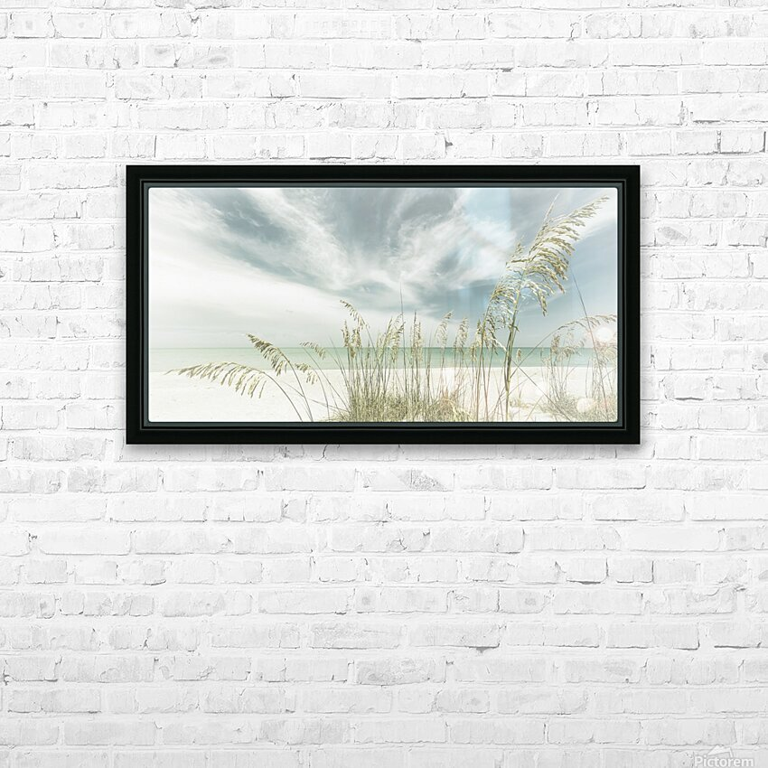 Heavenly calmness on the beach | Panoramic Vintage HD Sublimation Metal print with Decorating Float Frame (BOX)