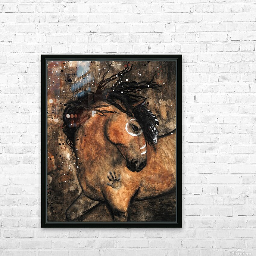 Spirit of Ancestors Horse HD Sublimation Metal print with Decorating Float Frame (BOX)