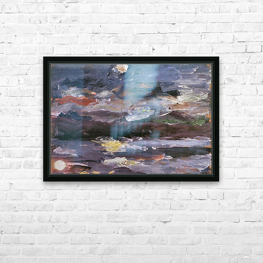 Moonlight by Lovis Corinth HD Sublimation Metal print with Decorating Float Frame (BOX)