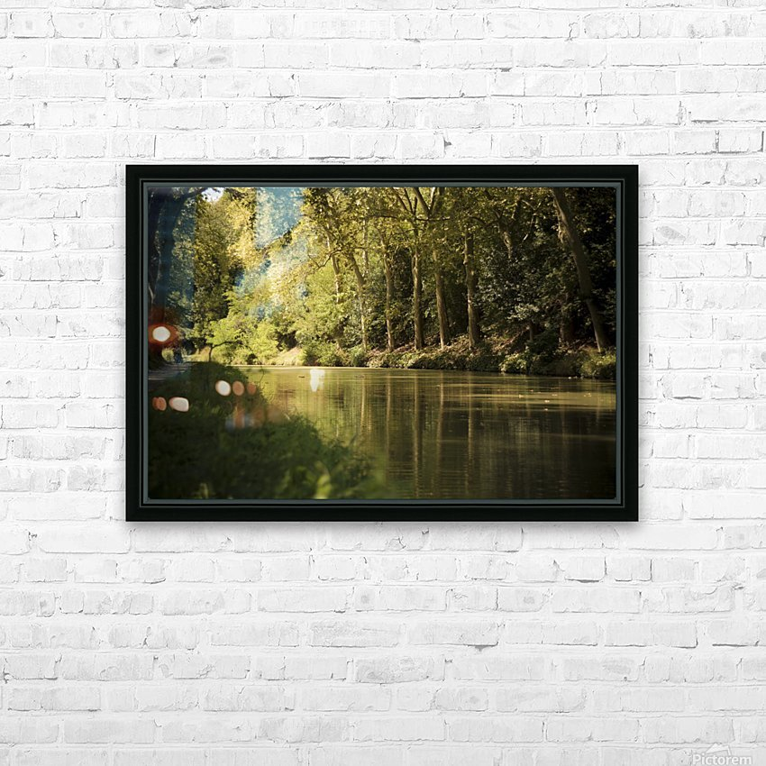 Canal  Carcassone HD Sublimation Metal print with Decorating Float Frame (BOX)
