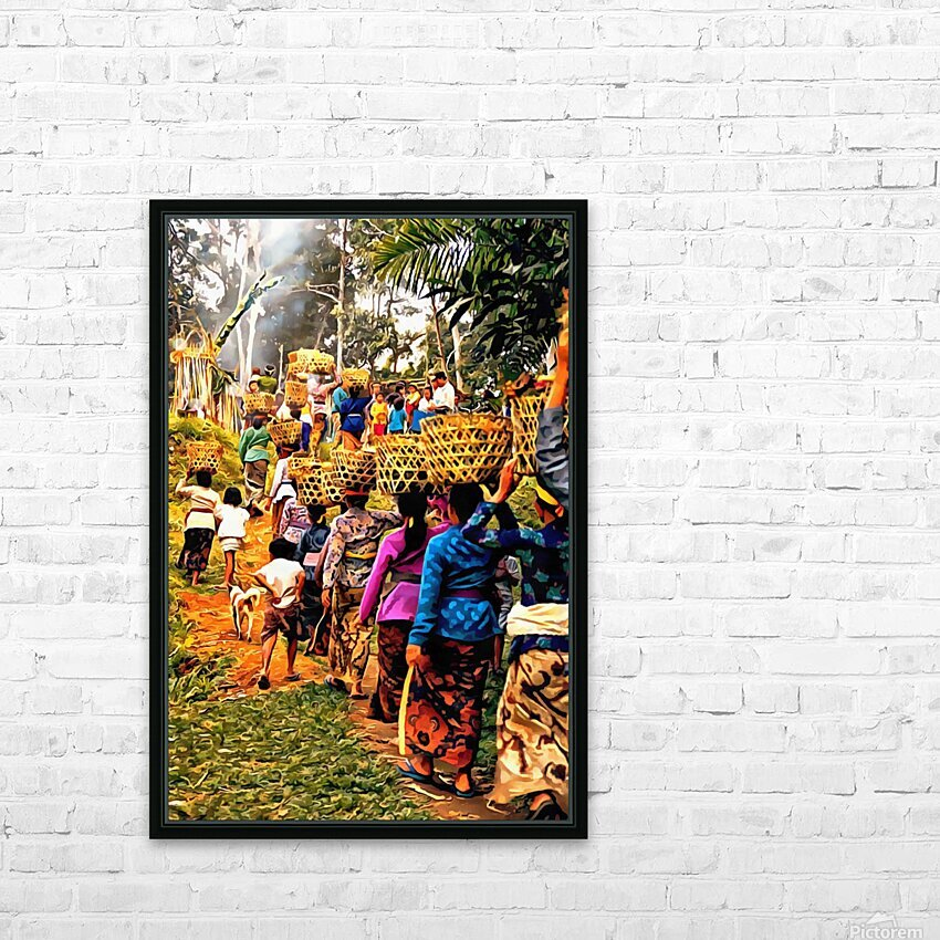 Funeral Feast Procession Bali HD Sublimation Metal print with Decorating Float Frame (BOX)