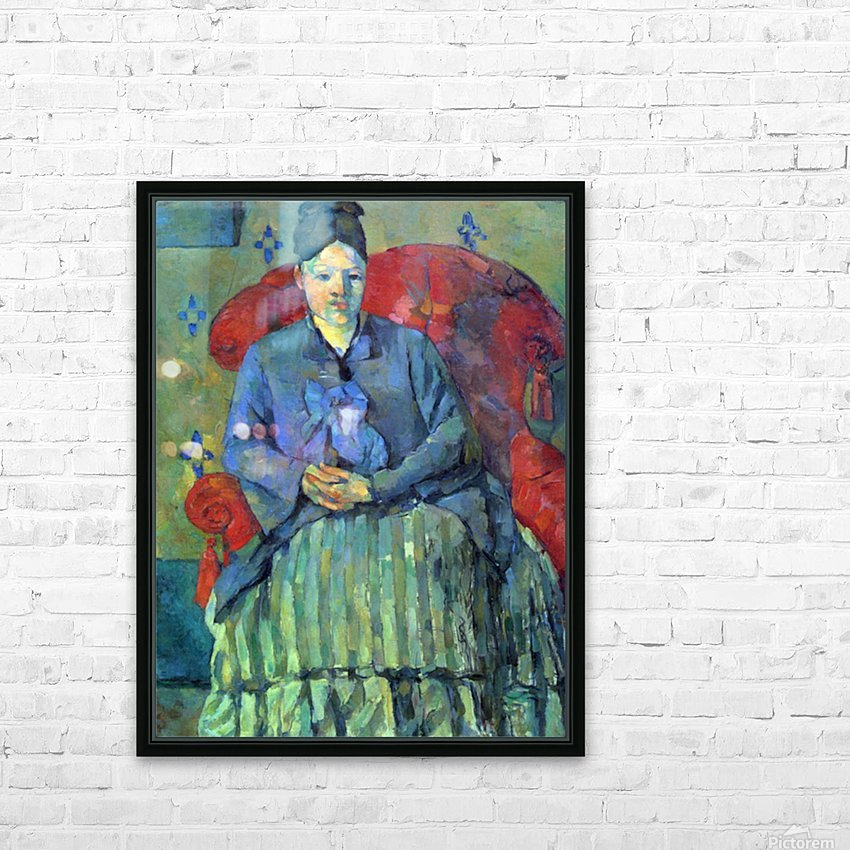 Potrait of Mme Cezanne in Red Armchair by Cezanne HD Sublimation Metal print with Decorating Float Frame (BOX)