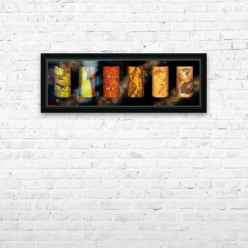 tree bark harmony HD Sublimation Metal print with Decorating Float Frame (BOX)